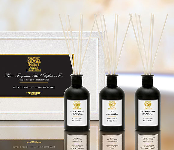 Black Reed Diffuser Set