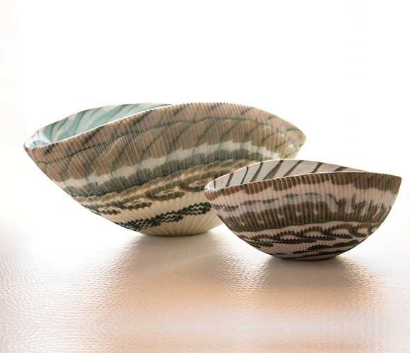 Murano Glass Shell Bowls