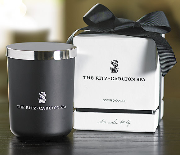The Ritz Carlton Hotel Shop The Ritz Carlton Spa White Amber Amp Lily Candle Luxury
