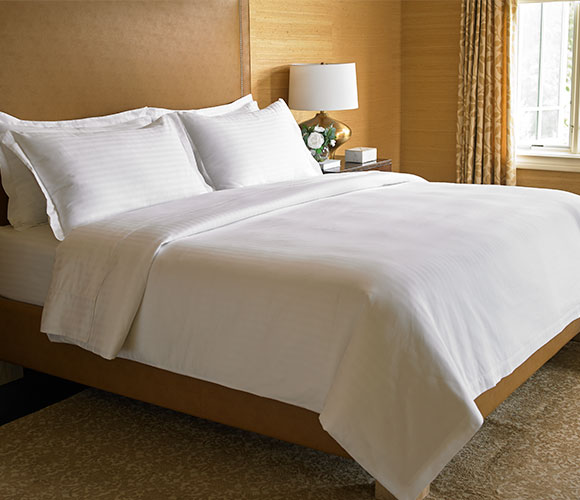 The Ritz Carlton Hotel Shops Tuxedo Stripe Bed Amp Bedding Set Buy Plush Robes Exclusive