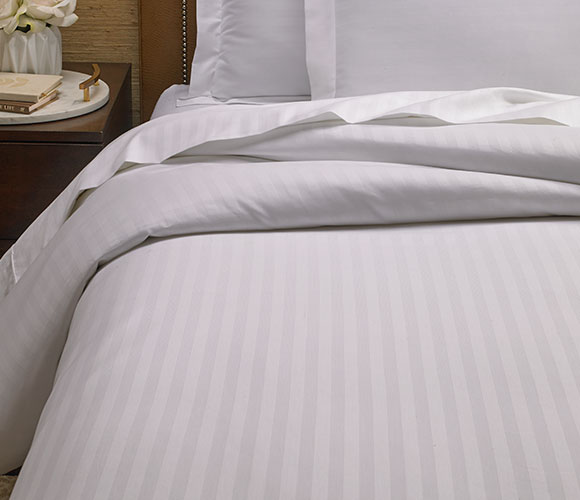 The Ritz Carlton Hotel Shop Tuxedo Stripe Duvet Cover