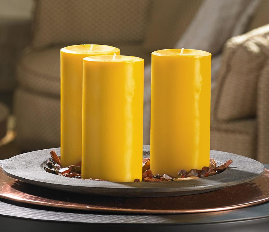 High Quality Mango Pillar Candle