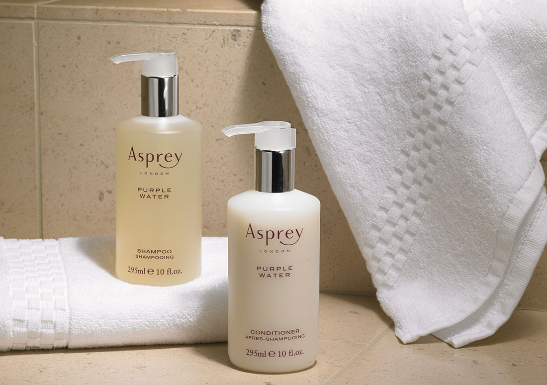 Ritz Carlton Hotel Shop Asprey Purple Water Hair Body Care Set Sabun Beauty