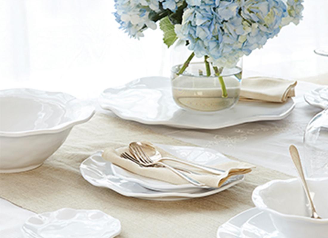 Ritz carlton ripple dinner plate set