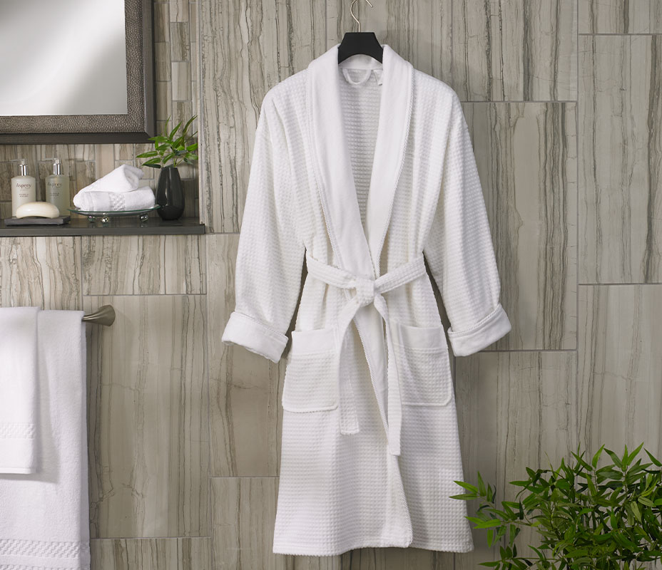 The Ritz Carlton Hotel Shop Waffle Terry Robe Luxury